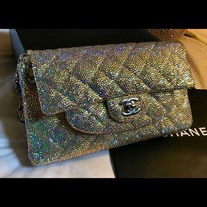Authentic Pale Yellow Chanel Swarovski Bag